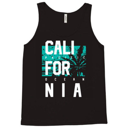 California Pacific Ocean Style Tank Top Designed By Lisart