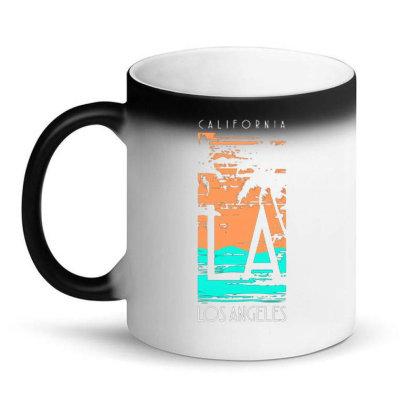 California Los Angeles With Palm Magic Mug Designed By Lisart