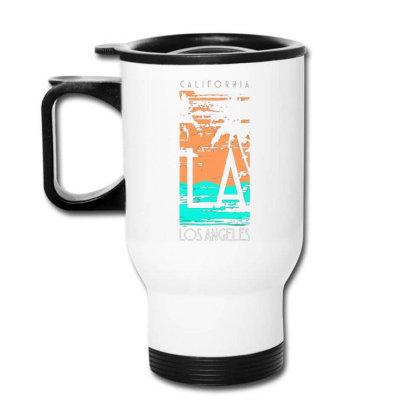 California Los Angeles With Palm Travel Mug Designed By Lisart