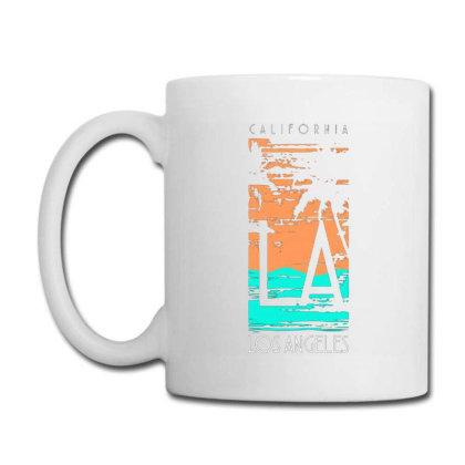 California Los Angeles With Palm Coffee Mug Designed By Lisart