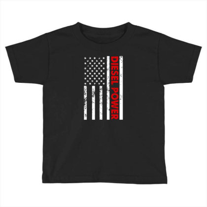 Diesel Power American Flag Toddler T-shirt Designed By Prescoot