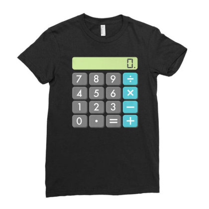 Calculator Halloween Costume Shirt Math Geek Scary Cool Gift Ladies Fitted T-shirt Designed By Nuansa