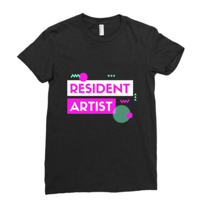 Resident Artist Ladies Fitted T-shirt Designed By Perfect Designers