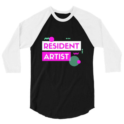 Resident Artist 3/4 Sleeve Shirt Designed By Perfect Designers