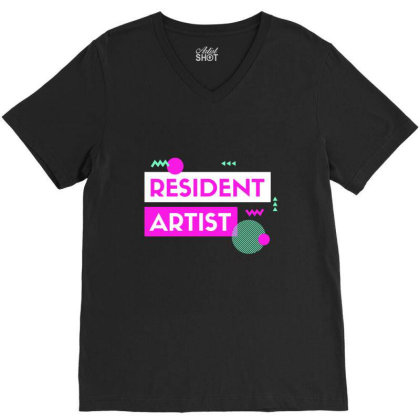 Resident Artist V-neck Tee Designed By Perfect Designers