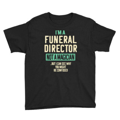 Funeral Director Job Title Gift Youth Tee Designed By Cidolopez