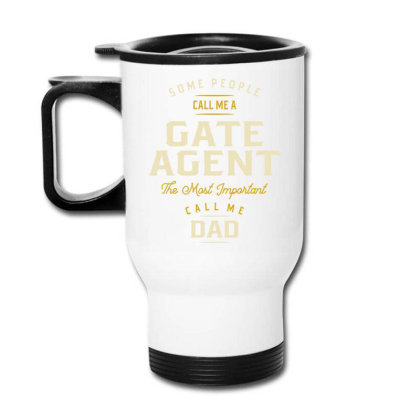 Gate Agent Job Title Gift Travel Mug Designed By Cidolopez