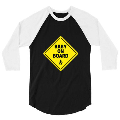 Baby On Board 3/4 Sleeve Shirt Designed By Perfect Designers