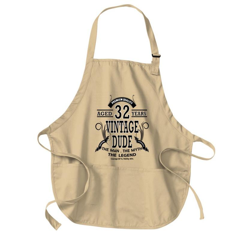 Vintage-dud-32-years Medium-length Apron | Artistshot