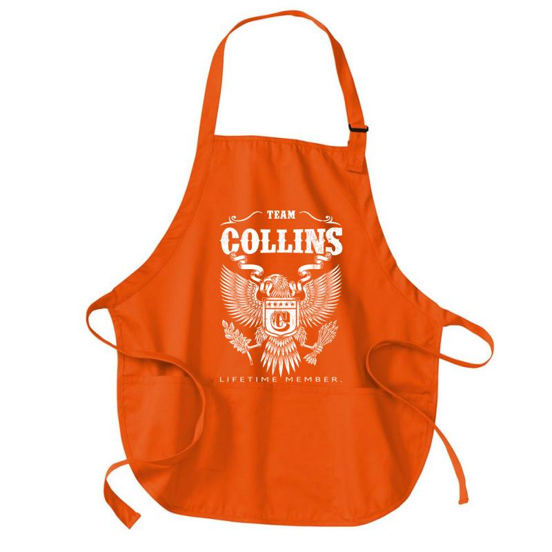 Team Collins Lifetime Member Medium-length Apron   Artistshot