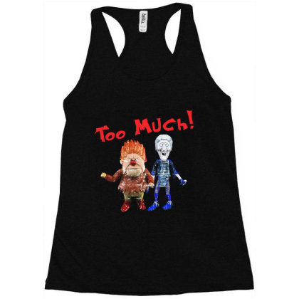 Heat Miser And Snow Miser Racerback Tank Designed By Dolly Tees
