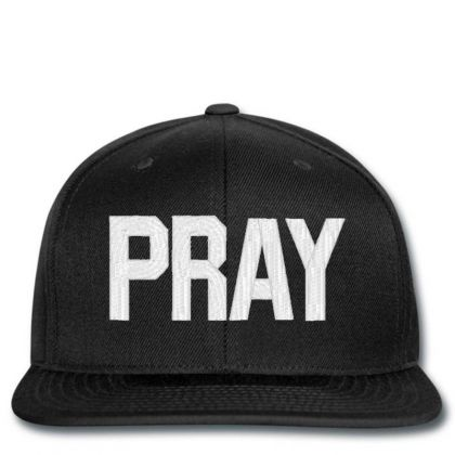 Pray  Embroidery Embroidered Hat Snapback Designed By Madhatter