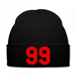 99 brooklyn  Embroidery embroidered hat Knit Cap | Artistshot