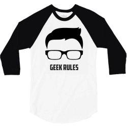 Geek rules 3/4 Sleeve Shirt | Artistshot