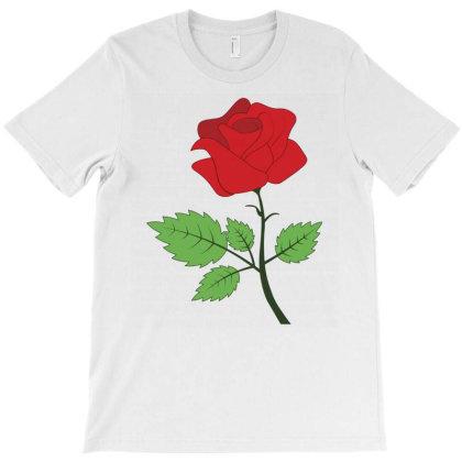 Red Flower T-shirt Designed By Emardesign