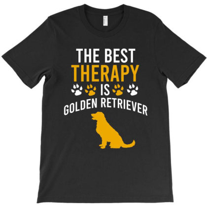The Best Therapy Is Golden Retriever T-shirt Designed By Cypryanus