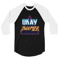 Funny Okay Boomer Retro 80s 3/4 Sleeve Shirt | Artistshot