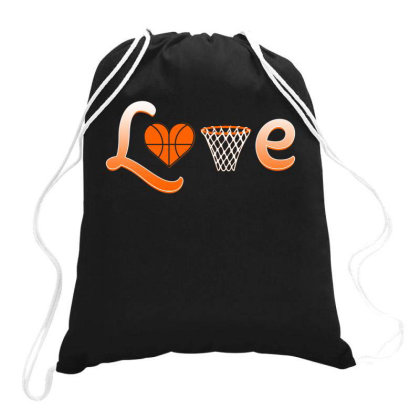 Basketball Love Drawstring Bags Designed By Iconshop