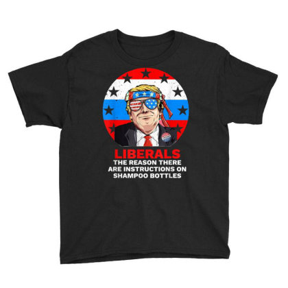 Liberal Pro Trump 2020 Youth Tee Designed By Kakashop