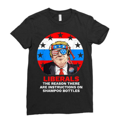 Liberal Pro Trump 2020 Ladies Fitted T-shirt Designed By Kakashop