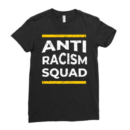 Anti Racism Squad Ladies Fitted T-shirt Designed By Nurart