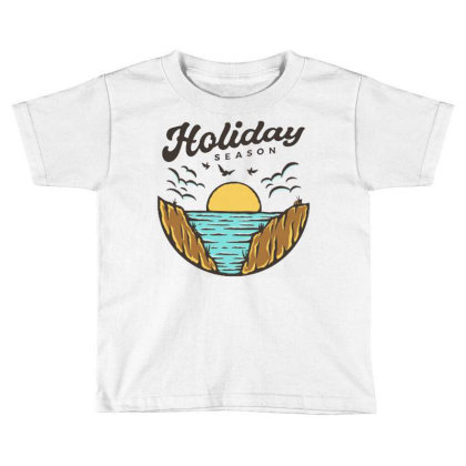 Beach Holiday Toddler T-shirt Designed By Nurart