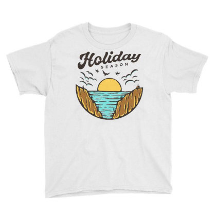 Beach Holiday Youth Tee Designed By Nurart