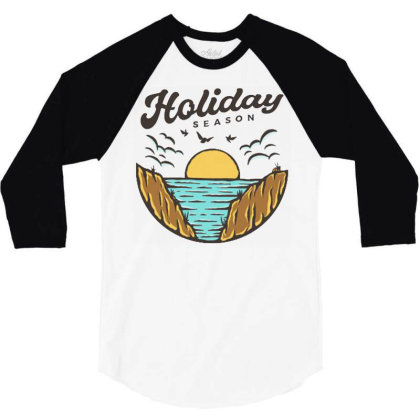 Beach Holiday 3/4 Sleeve Shirt Designed By Nurart