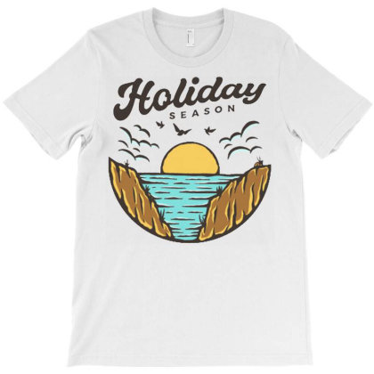 Beach Holiday T-shirt Designed By Nurart