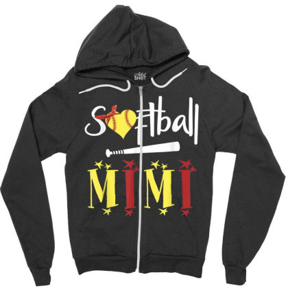 Gifts Softball Zipper Hoodie Designed By Cuser3772