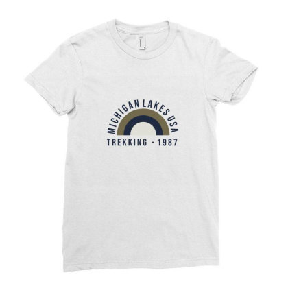 Trekking Ladies Fitted T-shirt Designed By Disgus_thing