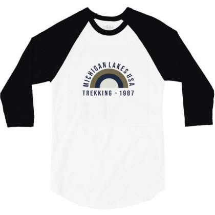 Trekking 3/4 Sleeve Shirt Designed By Disgus_thing