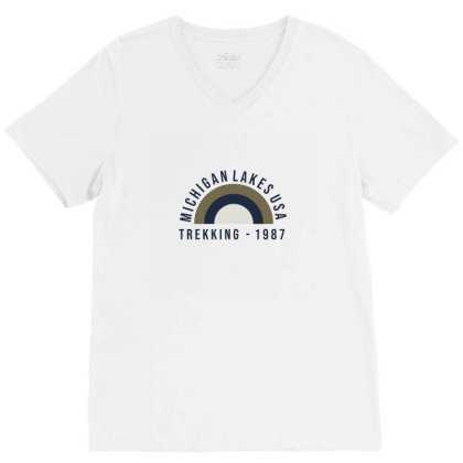 Trekking V-neck Tee Designed By Disgus_thing