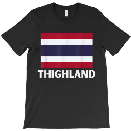 Funny Trump Flag Of Thailand Thighland T-shirt Designed By Cuser3143