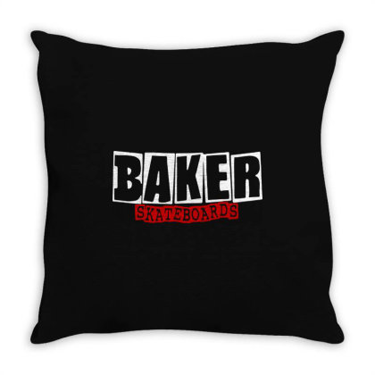 Baker Skateboards Throw Pillow Designed By Leona Art