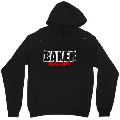 Baker Skateboards Unisex Hoodie Designed By Leona Art