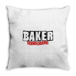 baker skateboards Throw Pillow   Artistshot