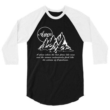 Aspen Wine 3/4 Sleeve Shirt Designed By Kirana Tees