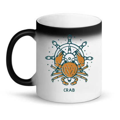 Crab With Ship's Wheel Nautical Magic Mug Designed By Nurart