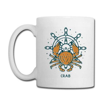 Crab With Ship's Wheel Nautical Coffee Mug Designed By Nurart