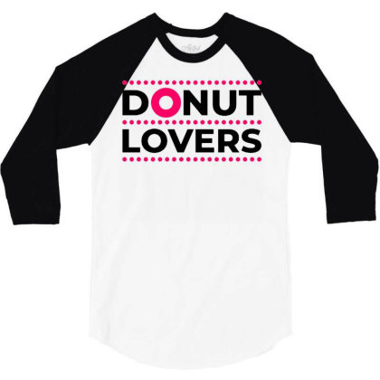 Dessert Lovers 3/4 Sleeve Shirt Designed By Nurart
