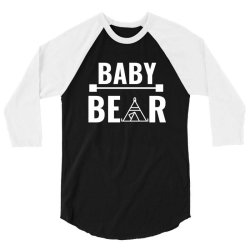 family bear pregnancy announcement baby white 3/4 Sleeve Shirt | Artistshot