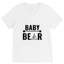 family bear pregnancy announcement baby V-Neck Tee   Artistshot