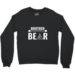 family bear pregnancy announcement brother white Crewneck Sweatshirt | Artistshot