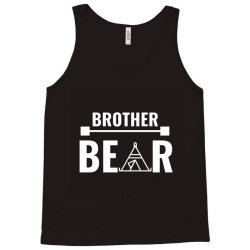 family bear pregnancy announcement brother white Tank Top   Artistshot