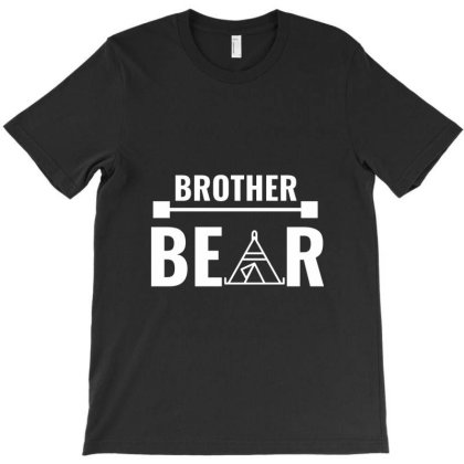 Family Bear Pregnancy Announcement Brother White T-shirt Designed By Perfect Designers