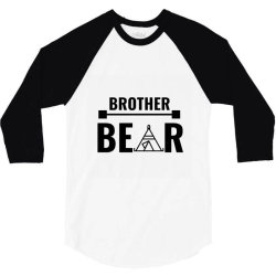 family bear pregnancy announcement brother 3/4 Sleeve Shirt | Artistshot