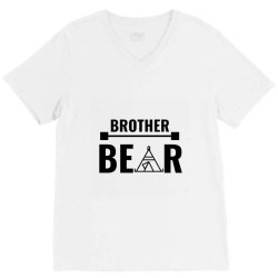 family bear pregnancy announcement brother V-Neck Tee | Artistshot