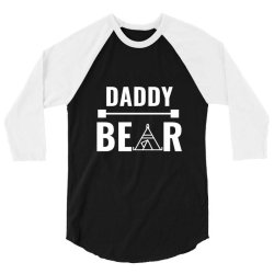 family bear pregnancy announcement daddy white 3/4 Sleeve Shirt   Artistshot