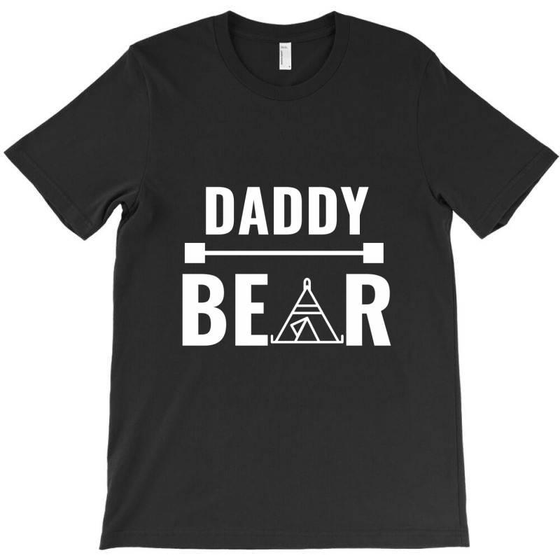 Family Bear Pregnancy Announcement Daddy White T-shirt   Artistshot